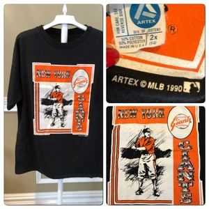 Vtg 90 SF Giants Artex Baseball Tee